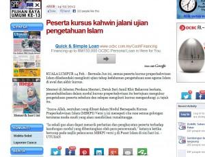 Keratan Akhbar Online: Credit to Utusan Malaysia Online